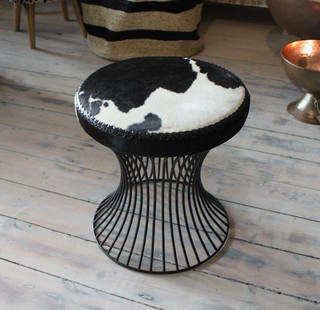 Cowhide Stool Sml Eclectic Furniture Melbourne By Raw Decor