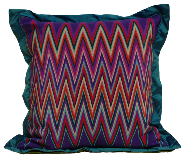 Missoni Silk Pillow - Modern - Decorative Pillows - raleigh - by Eatman's Carpets & Interiors
