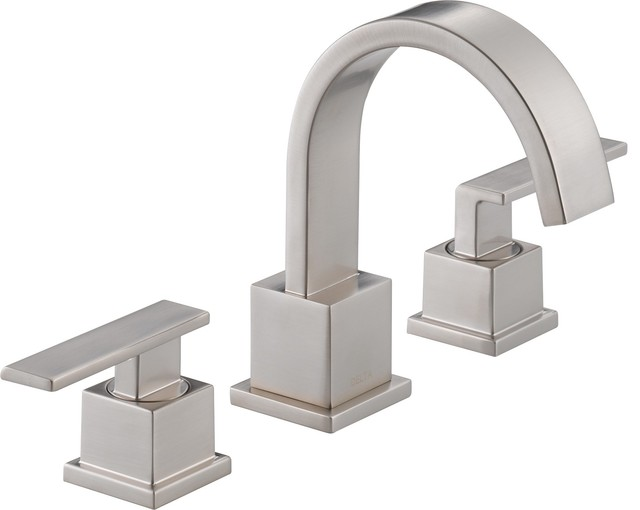 Delta Windemere B3596lf Double Handle Widespread Bathroom: Delta 3553LF-SS Vero Two Handle Widespread Bathroom Faucet