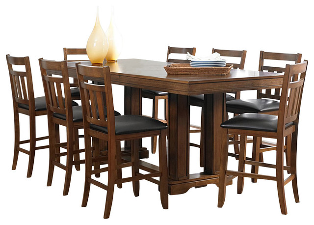 dining room set in warm oak traditional indoor pub and bistro sets
