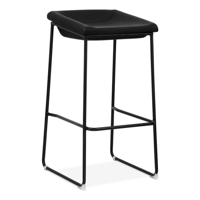 Black Kitchen Bar Stools Uk: Black Frame/Black Seat