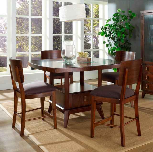 ... Perspective 5-piece Counter Height Dining Set contemporary-dining-sets