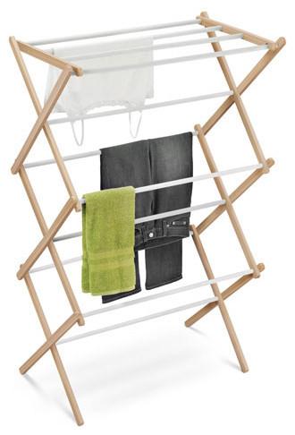 Wood Accordion Drying Rack 25 Linear Feet - Modern - Storage Cabinets