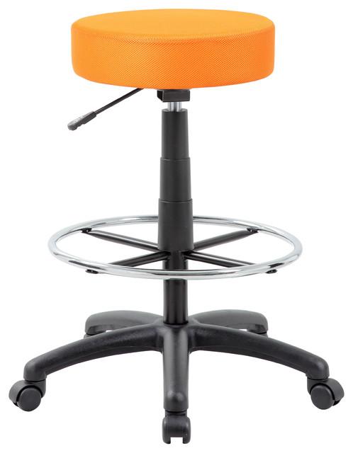 drafting stool orange modern b rost hle von boss. Black Bedroom Furniture Sets. Home Design Ideas