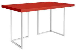 Manali plateau de bureau rouge moderne plateau et pied - Pied de table moderne ...