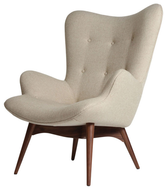 Kerns Accent Chair Beige Beach Style Armchairs And
