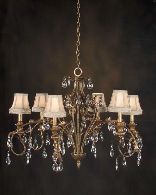 john richard 6 light chandelier ajc 8083 modern. Black Bedroom Furniture Sets. Home Design Ideas