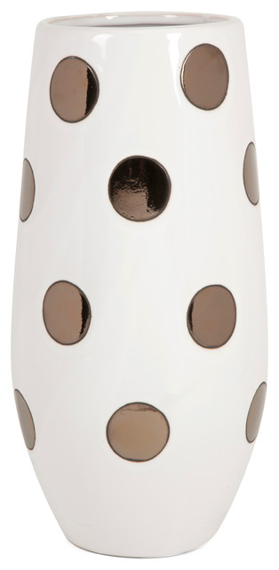Metallic polka dot vase contemporary vases by imax for Dot wall vase