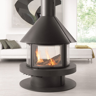 Rocal gala wood burning stove contemporary fireplaces for Garden rooms rocal