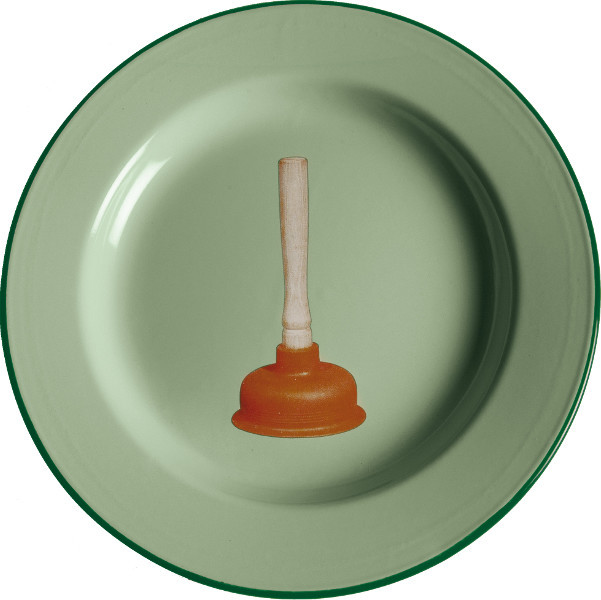 toiletpaper plate metal enameled plunger decorative plates by seletti. Black Bedroom Furniture Sets. Home Design Ideas