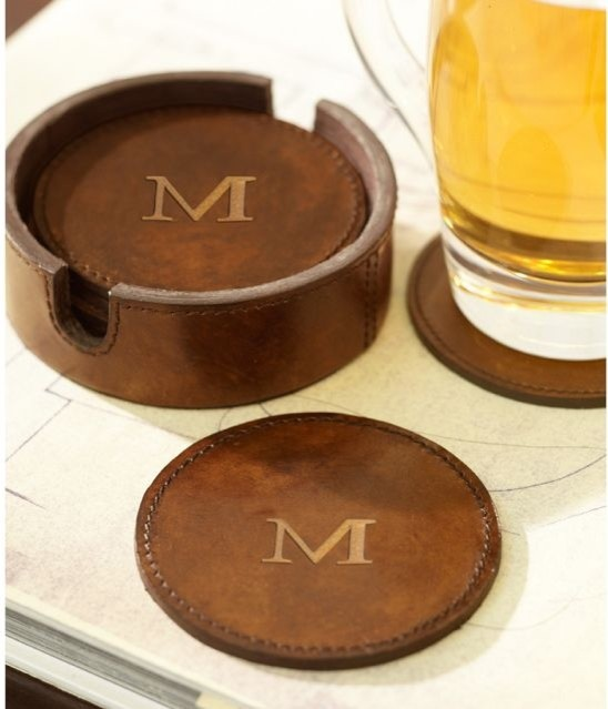 Saddle Leather Drink Coasters Traditional Coasters
