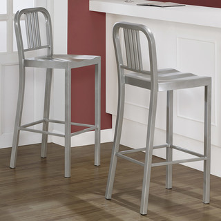 Silver Metal Bar Stools (Set of 2) - Contemporary - Bar Stools And Counter Stools - by Overstock.com