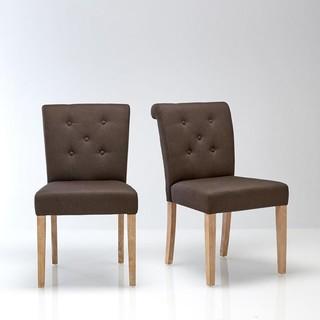 Chaise dossier capitonn lot de 2 nottingham - La chaise longue saint lazare ...