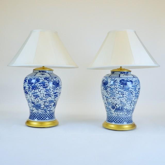 Superb ... Ralph Lauren Blue White Lamp ...