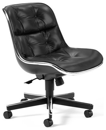 Charles pollock executive armless conference chair with aluminum frame modern office chairs - Armless office chairs uk ...
