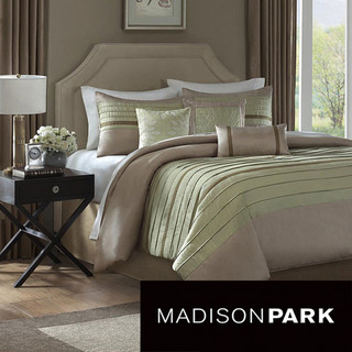 madison park hayes 7 piece comforter set moderne. Black Bedroom Furniture Sets. Home Design Ideas