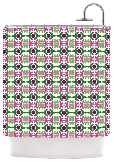 empire ruhl island dreaming abstract pink green shower