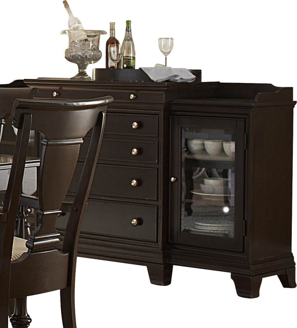 Homelegance Inglewood 72 Inch Server In Cherry Traditional Buffets And Sideboards By
