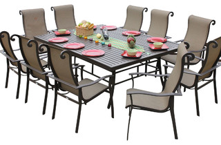 angrove 11 piece patio dining set traditional outdoor dining sets