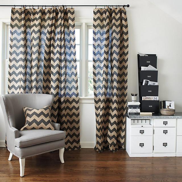 chevron burlap panel 108 modern gardinen vorh nge. Black Bedroom Furniture Sets. Home Design Ideas