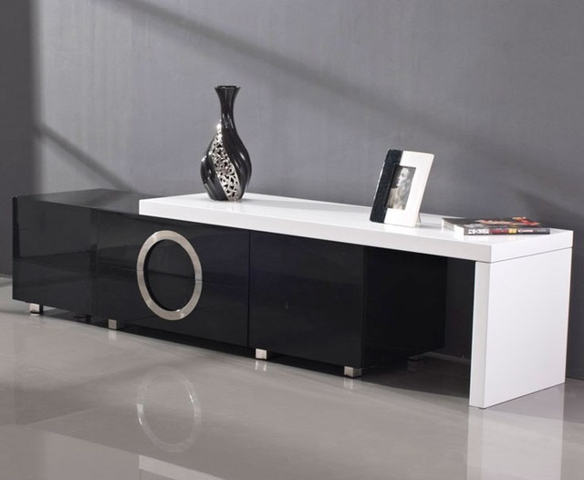 Black and White TV Stand - Modern - Entertainment Centers ...