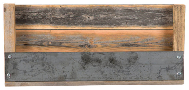 Industrial Refined Texas Barn Wood Shelf - Rustic - Display And Wall Shelves - by (del)Hutson ...