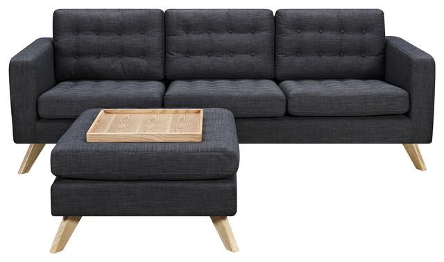 Charcoal Gray Mina Sofa Set Natural Living Room Furniture Sets By Nyekoncept