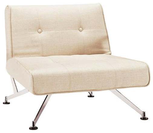Clubber Chair Natural Khaki Without Arms Modern Indoor Chaise Lounge Ch