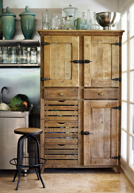 ... Pantry Cupboard - Traditional - Pantry Cabinets - by Block & Chisel