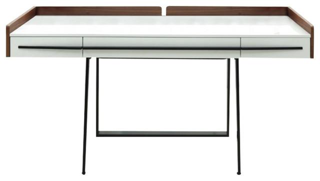 Branton Contemporary Office Desk Contemporary Desks And Hutches