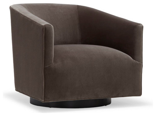 Cooper swivel chair modern armchairs accent chairs for Modern swivel accent chair