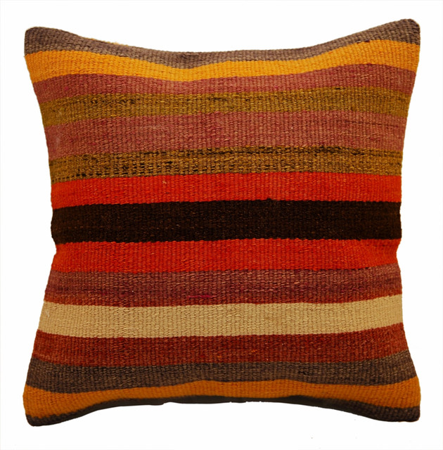 Modern Kilim Pillows : Kilim Pillows - Modern - Scatter Cushions - other metro - by The Orient Bazaar USA