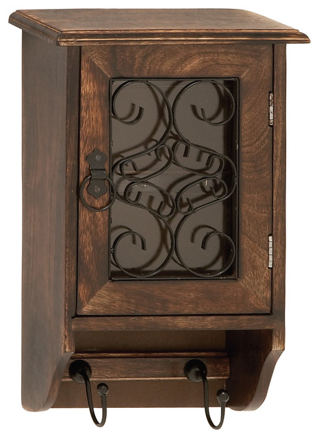 Elegant And Beautiful Style Wood Glass Metal Key Box Home