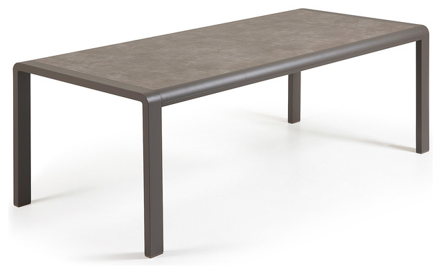 Mesa malta vulcano 200x100 moderne table de jardin for Table exterieur metro