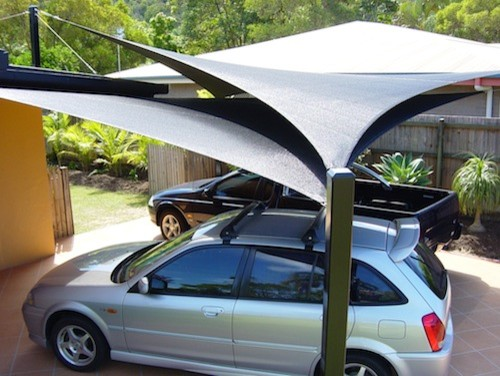 carport shade sails moderne auvent et voile d 39 ombrage gold coast tweed par global shade. Black Bedroom Furniture Sets. Home Design Ideas