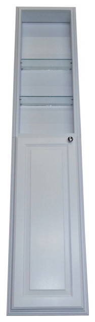 72-inch Recessed White Plantation Pantry Storage Cabinet with 36-inch Shelf - Contemporary ...