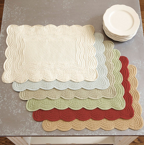 Marseille Quilted Rectangle Placemats Set Of 4