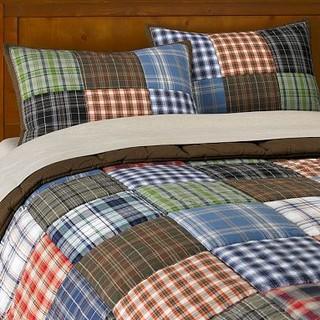 Patch Plaid Quilt Amp Sham Contemporary Kids Bedding