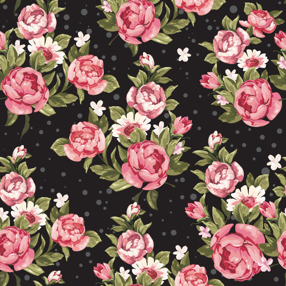 removable wallpaper roses on black contemporary