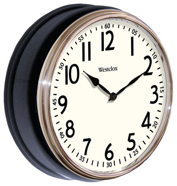 Westclox 12 Quot Round Vintage Kitchen Classic Clock Black