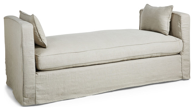 Reed linen daybed flax contemporary chaise longue for Chaise longue tours
