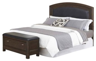 contemporary bedroom set queen in l x 2 5 in w x 58 in h
