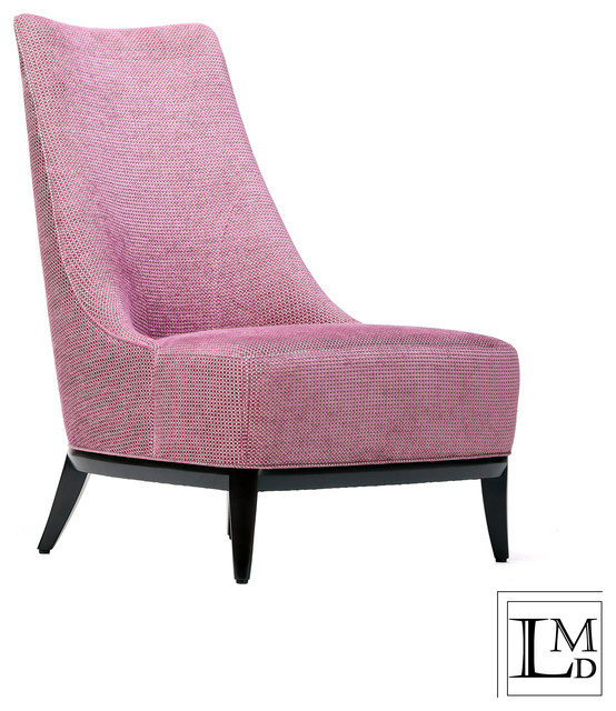 Jw Chair Purple Navy Chenille Transitional
