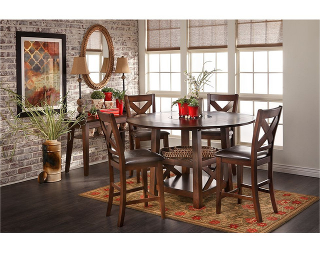 Salento 5 Pc Counter Height Table Group Dining Sets