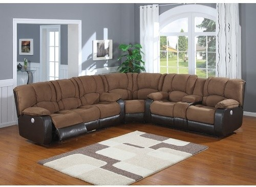Ac Pacific Furniture Jagger 3 Piece Polyester Reclining Power Sectional Jyq1 Traditional