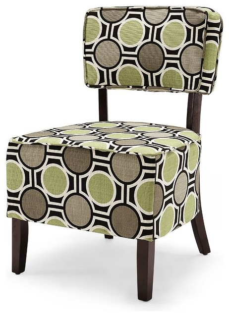 Zoey Accent Chair In Green And Gray Traditional Armchairs Chairs - Green Accent Chairs Living Room