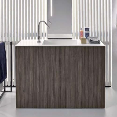 Makro Light30 Three Door Wood Vanity With Floor Drain