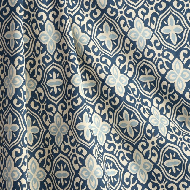 Less Is Moorish Blueberry Fabric New York By Loom Decor