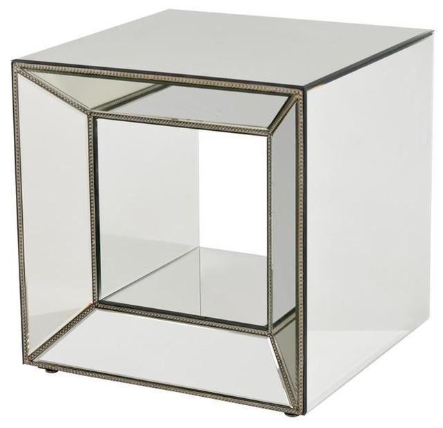 Oleta Antique Silver Mirrored Side Table Traditional Living Room Miami By El Dorado