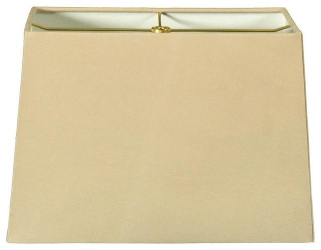 rectangle hard back lamp shade linen beige modern. Black Bedroom Furniture Sets. Home Design Ideas